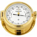 WEMPE Barómetro 140mm Ø, hPa/mmHg (Serie REGATTA) Barometer gold plated with white clock face