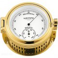 WEMPE Termo/Higrómetro 140mm Ø (Serie REGATTA) Thermometer/hygrometer gold plated with white clock face
