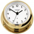 WEMPE Reloj de Yate 95mm Ø (Serie PIRATE II) Yacht clock brass with Arabic numerals
