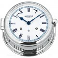 WEMPE  Reloj Campana Mecánica 185mm Ø (Serie ADMIRAL II) Bell clock chrome plated with white clock face and blue frame