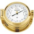 WEMPE Barómetro 120mm Ø, hPa/mmHg (Serie NAUTICAL) Barometer brass with white clock face